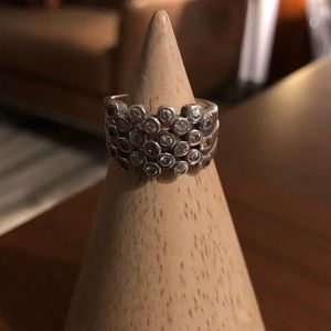Sterling silver stackable 3ring set cubic zirconia